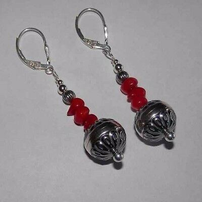 Carolyn Pollack Red Sea Bamboo Sterling Silver Earrings