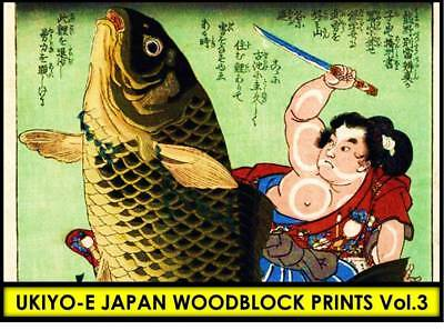 UKIYO-E JAPANESE WOODBLOCK PRINT ART SAMURAI WARRIOR Hero Hiroshige Clipart CD