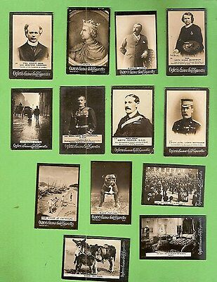 #d208. 13 Ogdens  Tab Cigarette Cards, About 1900
