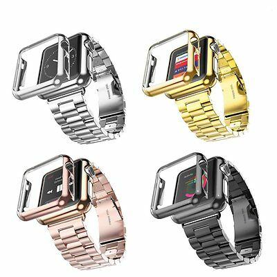 Stainless Steel Strap Classic Buckle Watch Bands for Apple Watch iWatch 38 42mm