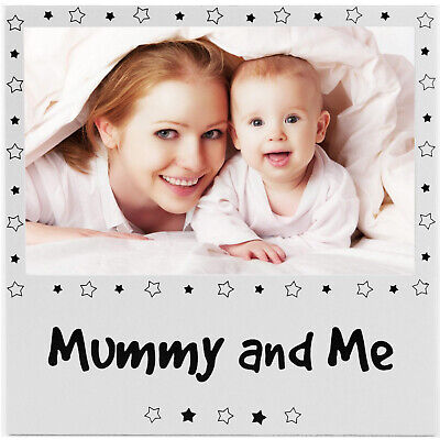 New Mummy & Me Photo Picture Frame Silver Mum Baby Son Daughter Mothers Day Gift
