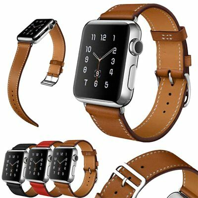 Luxury Leather Single Tour Band Strap Bracelet Belt For Apple Watch TU