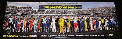 Nascar Drivers Goodyear Poster New Class Of 2016 Proving Ground Limited Edition