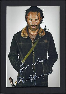 The Walking Dead, Andrew Lincoln (Rick Grimes) Signed Photo Mount Display,PP, A4
