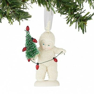 NEW Lighting The Tree Hanging Ornament 4051942 Snowbabies Porcelain Snow