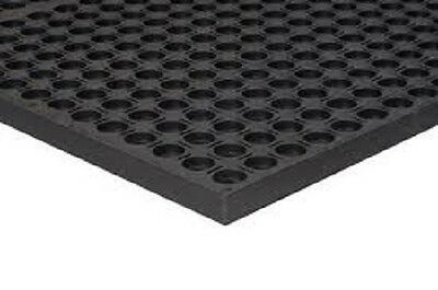 Rubber Drainage Safety Floor Mat anti Fatigue  holes 36 x 60 inch 3x5ft - NEW
