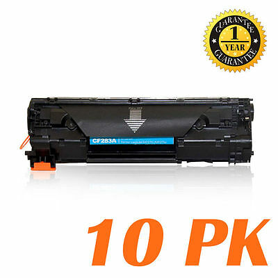 10-Pk/Pack 83A CF283A Toner Cartridge Fo HP M201dw M201n MFP M125a M125nw M127fw