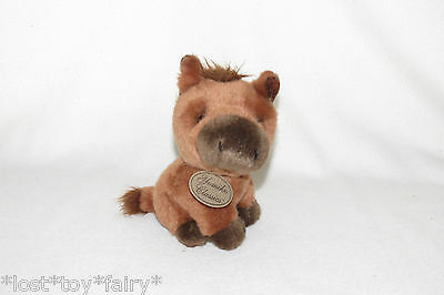 "Russ Yomiko Classics Horse Brown Pony Seated Mini Plush Stuffed 8"" Toy 35824"