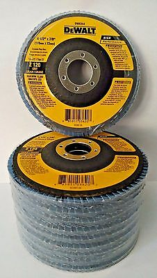"DeWalt DW8354 4-1/2"" x 7/8"" Zirconia 120 Grit Flap Disc 10 pc"