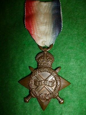 WW1 British 1914/15 Star Medal to Stoker Marples, Royal Navy