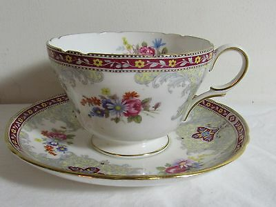 Shelley Georgian Red Cup And Saucer (S)