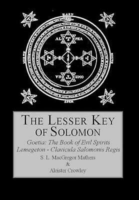 The Lesser Key of Solomon by Aleister Crowley (English) Hardcover Book Free Ship
