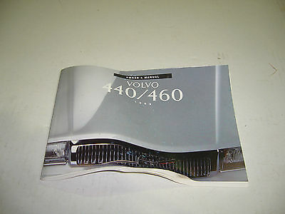 Volvo 440 460 Owners Manual 1993 Model