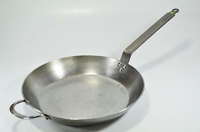 """De BUYER FRANCE 14"""" SKILLET! HEAVY DUTY! LARGE PAN! VERY NICE CONDITION!"""