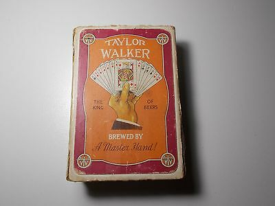 Vintage Rare  Playing Cards Taylor Walker The King Of Beers De La Rue 1940's