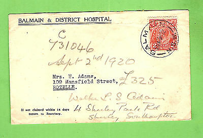 #d217. Stamped Envelope To Rozelle , 1932 Balmain & District Hospital