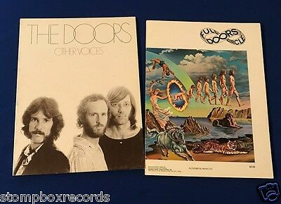(2)vintage 70's Post-Morrison The Doors SONGBOOK sheet music Other Voices Circle