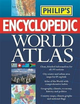 Philip's Encyclopedic World Atlas: A-Z country by country Hardback Book The