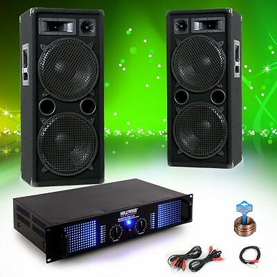 2400W PA Disco Party Audio equipment Speakers Power amplifier Sound System