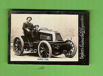 #d208. Ogdens  Tab Cigarette Card, Mors Car, About 1903