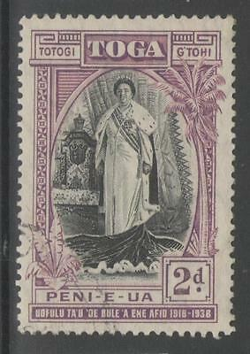 TONGA SG72 1938 2d BLACK & PURPLE FINE USED