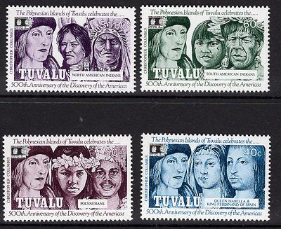 Tuvalu Sg629/32 1992 Discovery Of America By Columbus Mnh
