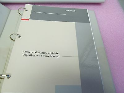 Hp 3438A Digital Meter Operating/service Manual, Schematic, Parts, Large Binder