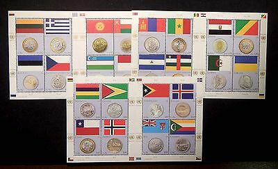 United Nations MNH 2011 Flag and Coin Mini sheets