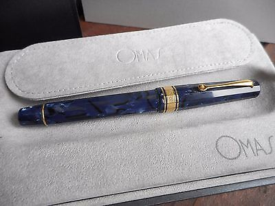 Omas Milord Royale Blue Celluloid Rollerball