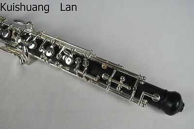 Advanced oboe Silver plated C key full-automatic composite wood oboe