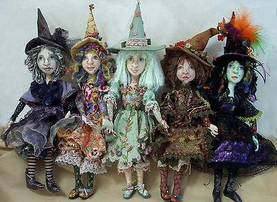 "*new* Cloth Art Doll (E-Pattern) ""year Of The Witch"" By Stephanie Novatski"
