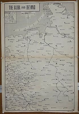 """India WW2 war map The Ruhr And Beyond 20""""x29"""""""