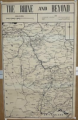 """India WW2 war map poster The Rhine And Beyond 17""""x27"""""""