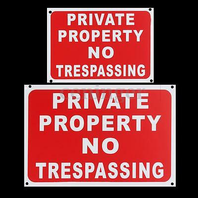 Private Property No Trespassing Plastic Stickers Warning Safety Signs Decal