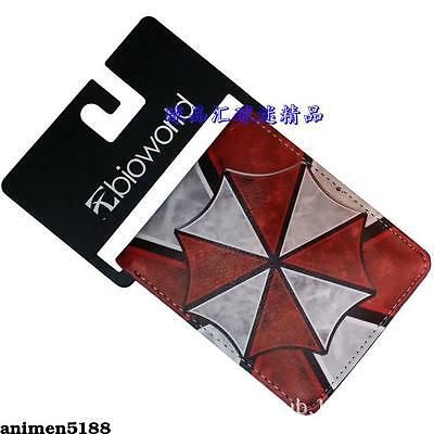 Resident Evil Umbrella Logo Wallet Leather Two-Fold Purse Layers Otaku