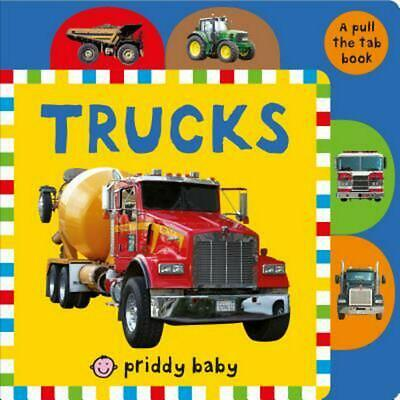 Pull the Tab: Trucks by Roger Priddy (English) Board Books Book Free Shipping!