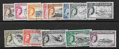 Ascension Sg57/69 1956 Definitive Set Fine Used