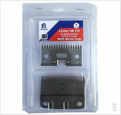 Lister A2 Fine Clipper Blades By Liveryman -Fits Star,liberty,legend & Laser