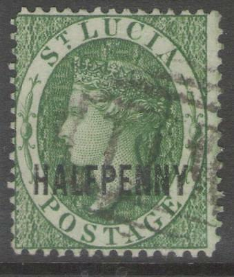 ST.LUCIA SG25 1882 ½d GREEN USED