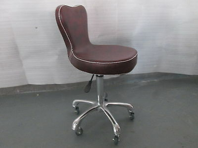 Salon Chair Equipment Hairdressing Stool 6629,MAROON & BLACK