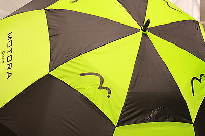 "60"" Large Double Canopy Windbuster Golf Umbrella Lime Green/Black Automatic New"