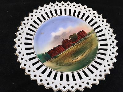 Antique Wheelock Souvenir China Lace Edge Plate From St Marys Hospital Minnesota