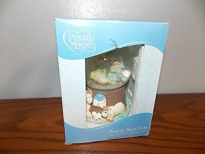 Precious Moments Nativity Water Globe Plays Oh Little Town of Bethlehem L1016