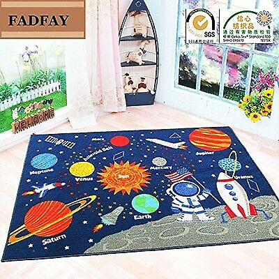 FADFAY Outer Space Kids Rug Cute Kids Room Carpet 39''*52'' Planet