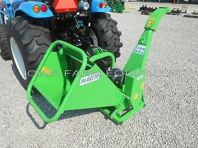 """Wood Chipper, Drum Type, Tractor PTO 3-Point: Peruzzo TB100 Chip 4""""Diax12""""Wide!"""