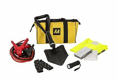 Winter Car Care Emergency Essentials AA Kit Ice Snow Shovel Torch Blanket