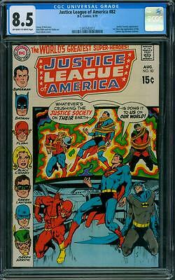 Justice League of America 82 CGC 8.5 - OW/W Pages
