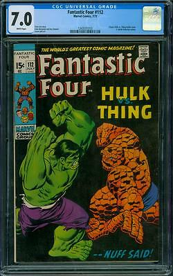 Fantastic Four 112 CGC 7.0 - White Pages