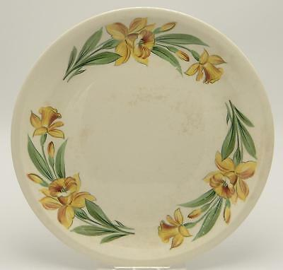 Shenandoah Ware Paden City Pottery Ceramic Plate Daffodils 10.5in. Under Glaze