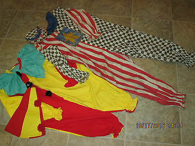 Antique/vintage 2 Wonderful Childs Halloween Clown Costume/costumes With Hats